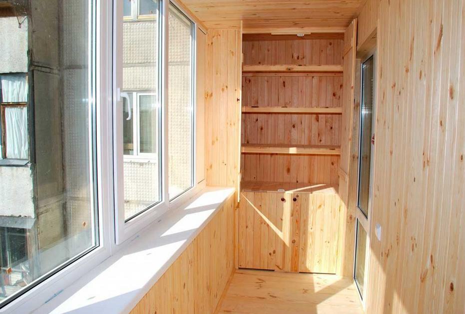 Деревянная вагонка на балкон