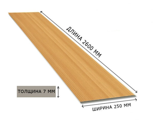Размер вагонки из МДФ
