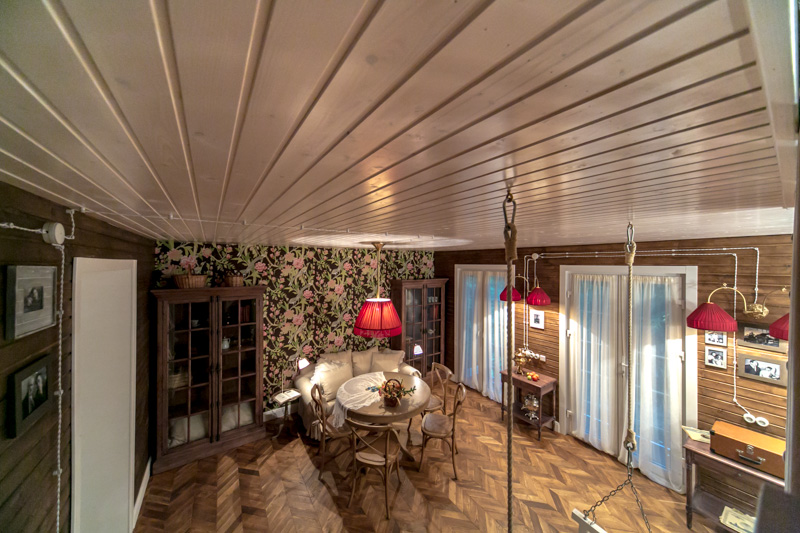 Современный стиль потолка