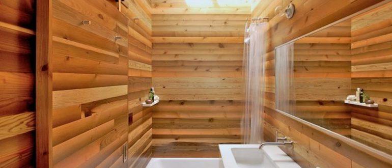 Вагонка в ванной