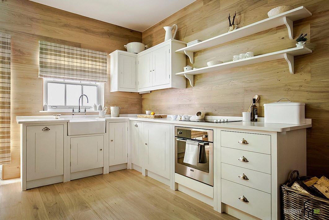 Кухня с отделкой МДФ панелями